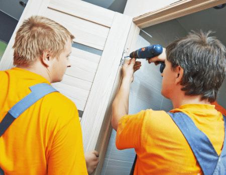 Closet door installation
